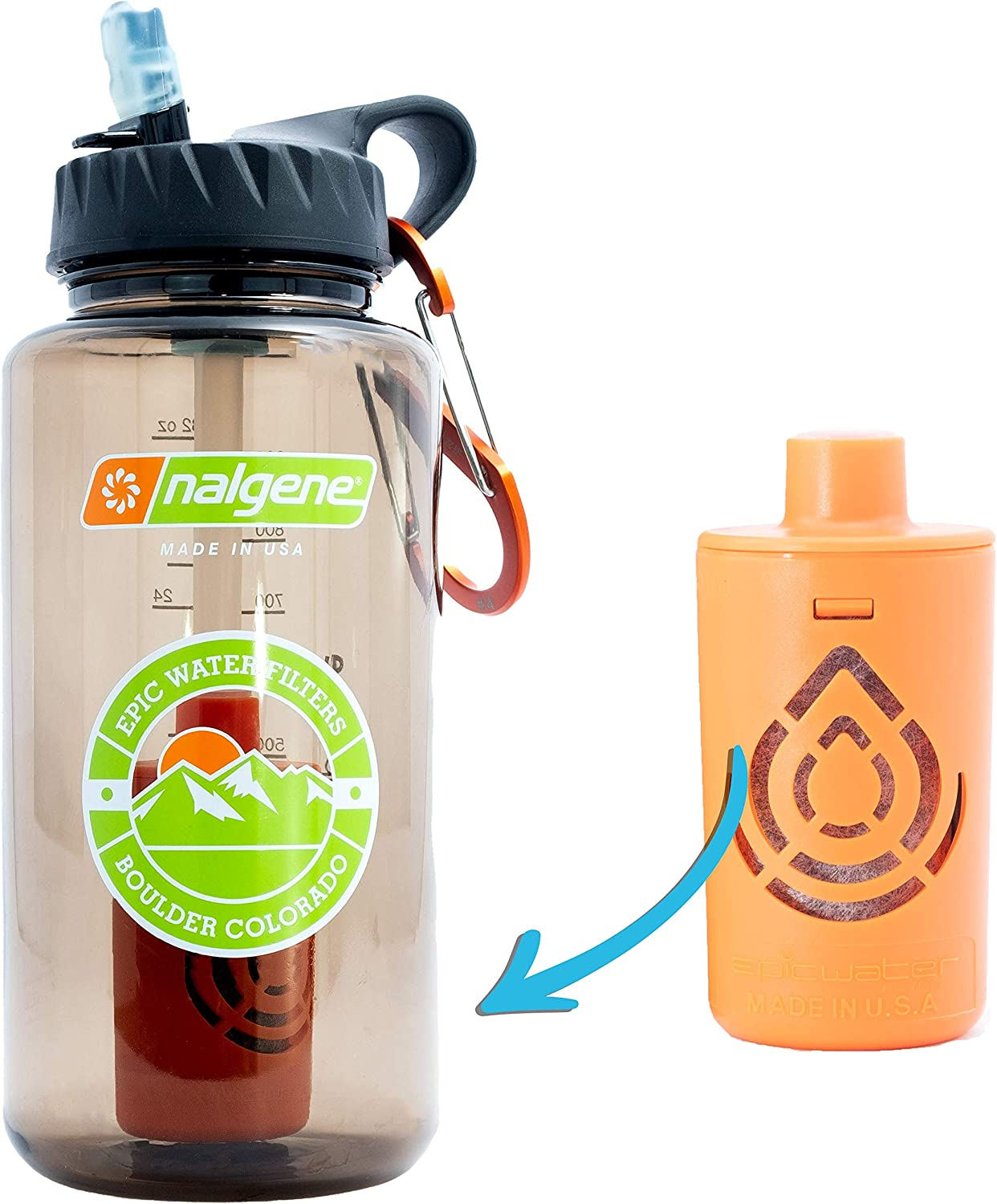 Giardia rated water filter.